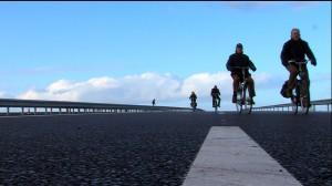 fietsers op de weg